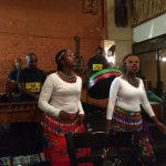 Traditional African dance and music...