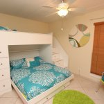 Guest Bedroom With 1 Queen Bed and 1 Twin Bunk