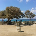 On the way there, a cute taverna on the beach