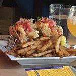 Crunchy Haddock Tacos, Fries & a Craft Beer