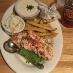 Seaside Special - Lobster Roll, Fries, cup of clam chowder, coleslaw