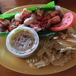 Lobster Roll (without roll) At Lobster Shack - Perkins Cove, Ogunquit, Maine