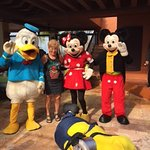 Disney characters visited the restaurant the morning before the kids show. What a riot!