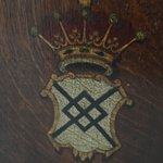 300 year old chair with my family's crest (Tollemache - pronounced Talmadge in the US)