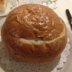 Lobster Bisque in a Bread Bowl