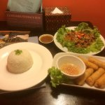 Spring Rolls with Khmer Traditional meal
