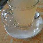 Love my ginger tea - Nick's Italian Kitchen McLeod Ganj July 2017