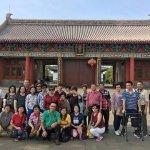 Group photo at Weng Hin Temple