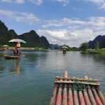 Yangshuo Yulong bamboo boat(The photo taken at Sep 2017).