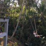 You can push your adrenalin by swinging your body while enjoying nice green view