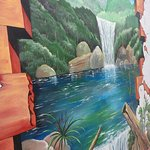 Wall Painting waterfall.
