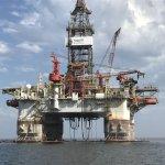 Big Oil Rig near Pelican Point