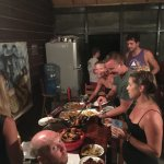 Typical lobster dinner organized by Nicole and Jeffrey. Just $5/person for unlimited lobster tai