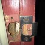Door Frame of Unsafe Room Patio Door