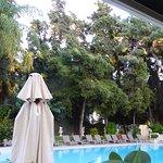 Breakfast by pool
