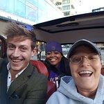 Thomas, NuNu and Lisa leaving hotel