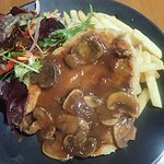 chicken snitzel 12 Rocks cafe & bar