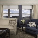Executive Suites feature elegant, sunny parlors.