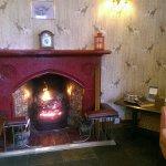 Coal Fireplace in bar area