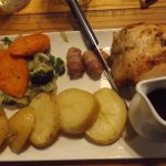 Roast chicken with trimmings