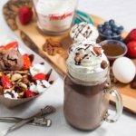 Nutella Hot Chocolate & Nutella Waffle