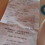 Lunch for $7, dessert for $3. Beverage under $2. Very good deal.