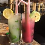This are two types of mojito that they offer. (Mojito Cubano, Raspberry Mojito)