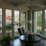 beautiful sun room (the old ambulance bay)