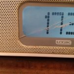Cracked bedside radio