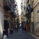 The traditional and atmospheric street the hotel is located on