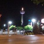 Skylon tower, photo taken from the street corner near the hotel