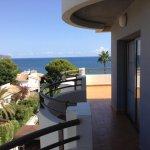 Side balcony facing the Med