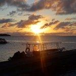 lever du soleil sur le bateau de la pension