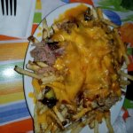 loaded pork fries