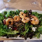 French salad with wild shrimp