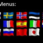 Menus in different languages.