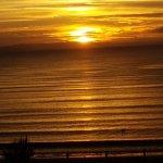 Sun rising in the sky over weymouth bay ❤