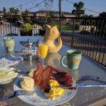 Very tasty breakfast on the balcony