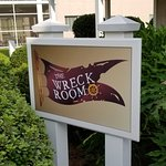 Wreck Room sign