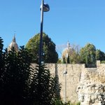Old walls and cathedral spires