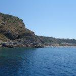 Blick auf den Spiaggia di ponente, lido la tonnara