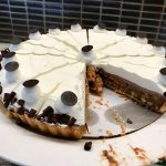This chocolate macnut pie is rich and good