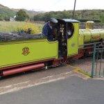 Steam locomotive on narrow gauge railway Ravenglass and Eskdale.