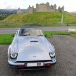 The TVR at Ruthven Barracks on a Scotland tour (04/Sept/17).