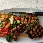 Tuscan grilled pork chops