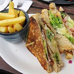 The excellent Club Sandwich at The Village Inn - Arrochar (02/Sept/17).