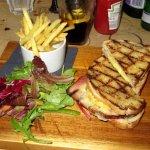 Delicious toasted ham & cheese sandwich - Torridon Inn (03/Sept/17).