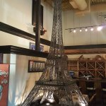 Eiffel Tower in a restaurant - AWESOME!