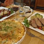 Our lamb dinner accompanied by scalloped potatoes!