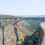 One of two cool bridges spanning the canyon at the overlook at Peter Skene Ogden Scenic Viewpoin